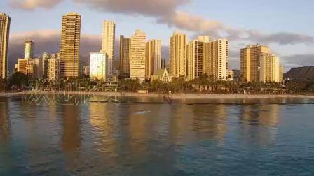 航拍美国夏威夷瓦胡岛大岛考艾岛(8779)1080P