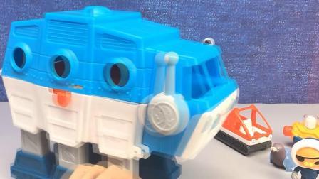 海底小纵队玩具套装 小纵队玩具测试组装过程