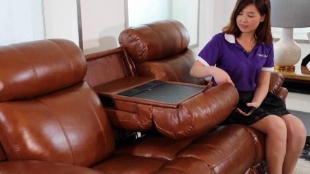 君晓天云汤姆仕品牌头等太空多功能舱电动头层真皮沙发客厅组合现代影院椅