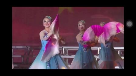 冶山玉兰舞蹈队《我的祖国》广场舞比赛中荣获二等奖