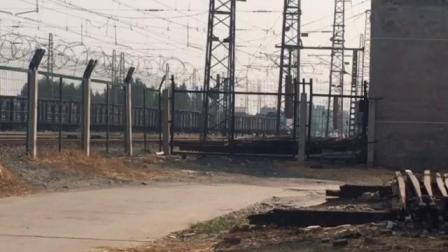 济局西段HXD3牵引货列转线进兖州北站编组场