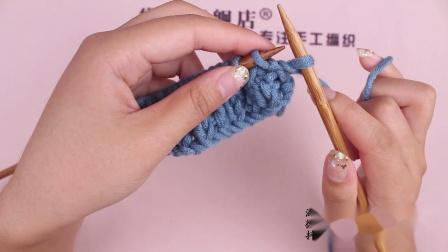 黛青旗舰店手工编织毛线麦穗花围巾教程视频毛线简易织法