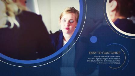 PR模板 蓝色优雅科技感简洁商务企业照片展示活动汇报视频宣传片