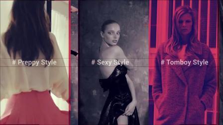 PR模板 时尚快节奏动感视频文字展示模特表演广告花絮宣传片头