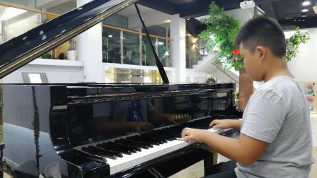 丁家浩琴行 明帅同学练习(德)贝多芬《G大调小奏鸣曲》第二乐章