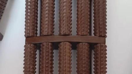 君晓天云鸡翅木脚底按摩器脚部足部滚轮式木质家用穴位搓排保健足底按摩器