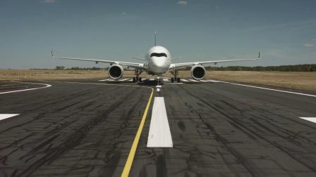 空中,法航(AirFrance)首架A350空中飞行宣传片