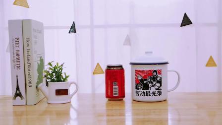 君晓天云搪瓷杯怀旧经典红双喜老式尹正同款定製带盖子大容量复古马克杯加厚
