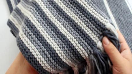 温暖你心第二季平针竖条英伦围巾的织法男生戴的围巾教程