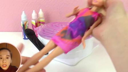 芭比娃娃 Barbie 儿童DIY手工自制 炫酷服装衣服裙子比基尼 套装