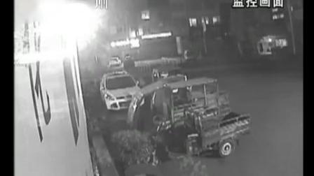 宝马撞飞电动三轮车,男的当场身亡,女的送医急救,肇事司机逃逸