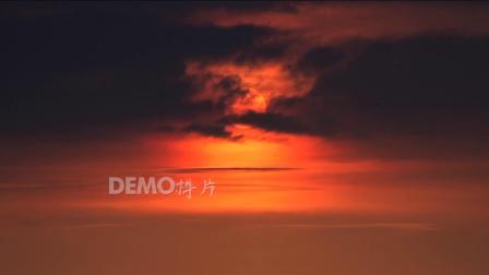 E235 唯美晚霞落日夕阳太阳西下晚霞余晖云层壮美大自然实拍视频素材