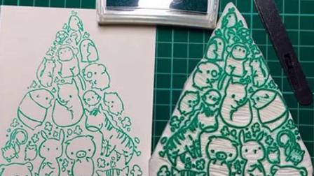 君晓天云彩虹夹心橡皮 三层夹心雕刻橡皮 橡皮章彩色橡皮砖 雕刻DIY配件