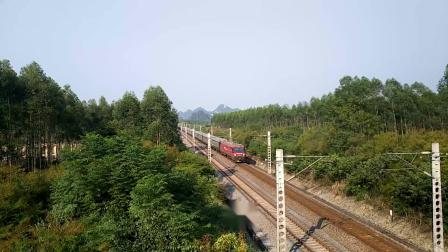 10.1进德湘桂线HXD3D牵引K21快速通过K557+78m