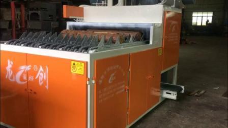 最新款全自动截木机视频 木工机械断料锯 木炭柴火机 多片截断高效一次到位