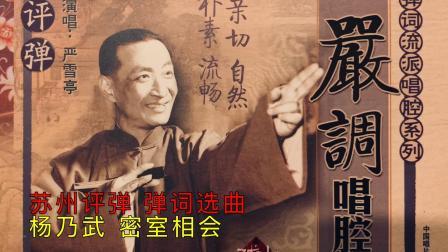 苏州评弹 弹词选曲《杨乃武-密室相会》严雪亭 严调经典