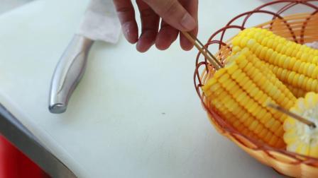 脆皮玉米需要多久现场教学_煌旗出品