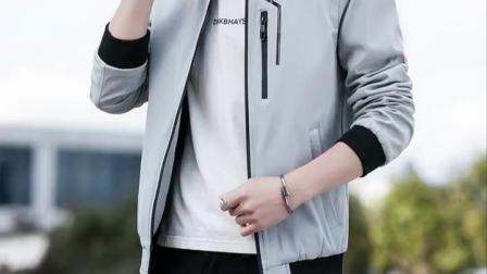 君晓天云初秋外套男2019新款棒球服休闲运动外衣秋装上衣成熟简单男装夹克