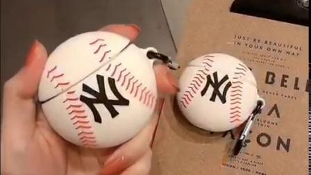 君晓天云棒球airpods2保护套潮牌苹果无线蓝牙耳机airpods1保护壳硅胶创意