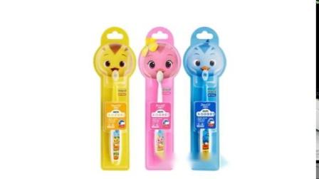 君晓天云牙博士宝儿童牙刷2-6岁6-12岁卡通可爱3支装软毛萌鸡小队清洁护龈