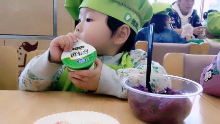 宝宝的第一个食玩:酸奶紫薯蛋糕,超有爱的亲子互动手工