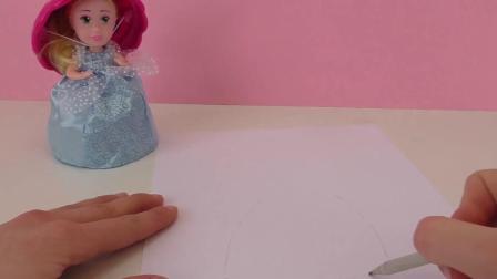 超级可爱 纸杯蛋糕 松饼 娃娃 公主 画画 绘画 彩绘 简笔画 填色