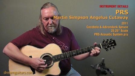 PRS Martin Simpson Angelus 民谣吉他 手工琴 指弹