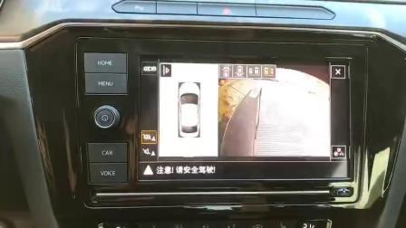 广州大众迈腾B8无损改装360全景摄像头记录仪系统