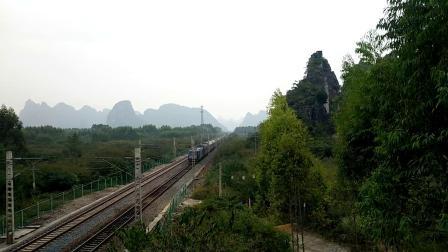 10.7进德湘桂线HXD3C牵引5537快速通过K555+421m