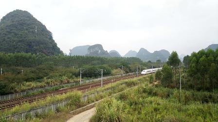 10.7柳南客专CRH2A快速通过K29