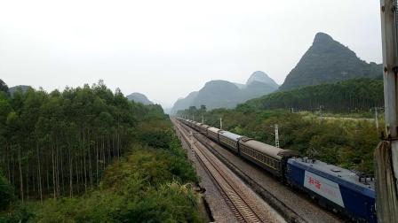 10.7进德湘桂线HXD3C牵引K829快速通过K562