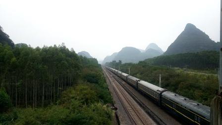 10.7进德湘桂线HXD1D牵引T381快速通过K562
