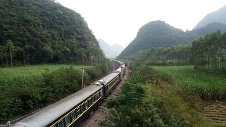 10.7进德湘桂线HXD3D牵引K22快速通过K563+722m