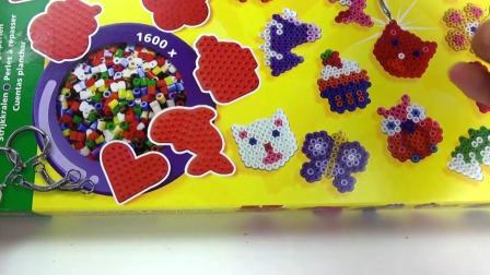 荷兰 SES Creative 炫酷创意彩色拼豆 DIY手工制作 美味 奶油香草蛋糕挂坠展示