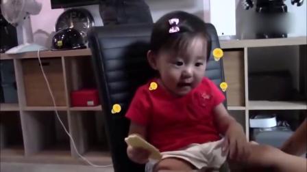 萌神动图来啦 咘咘喂贾静雯吃饼干 表情超可爱 161104