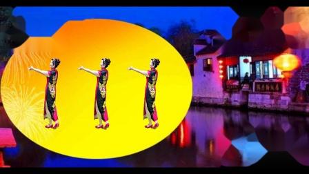 苏北君子兰广场舞--398--小城故事多)(旗袍舞)