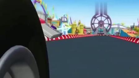 旋风战车:超大摩天轮要压飚速,飚速赶紧加速逃命啊