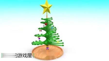 8.20儿童益智早教课程,烤饼干学习形状和颜色,圣诞树下的圆球球