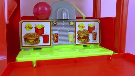 Food Truck 超级 炫酷 DIY 手工 自制 美味 餐车 汉堡包 薯条 纸杯 蛋糕 冰激凌 零食
