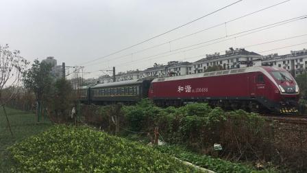 沪昆绕行线 K210次刚通过萧山西站开始愤然加速