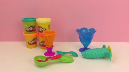 Play-Doh 培乐多 彩泥套装 缤纷创意 手工制作冰激凌 雪糕 甜点 展示