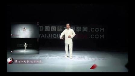 赵幼斌大师杨氏太极拳85式教学79式 退步跨虎