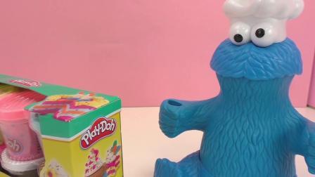 培乐多新品 炫酷 霓虹色 波点 蛋糕 甜点 冰激凌 彩泥 展示