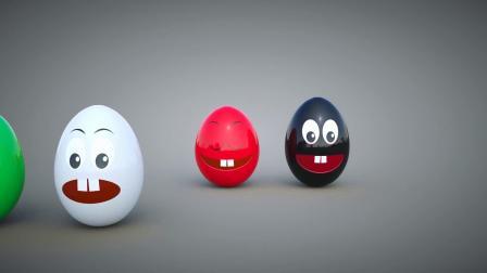 不同颜色惊喜鸡蛋玩具 学习颜色和汽车名 幼儿童英语早教启蒙动画
