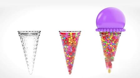 糖果做的冰激凌 学习认识颜色 幼儿童英语早教启蒙动画