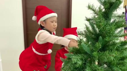 圣诞节布置 12月1号开始圣诞节倒数洞洞乐! 我们自己装饰圣诞树吧!