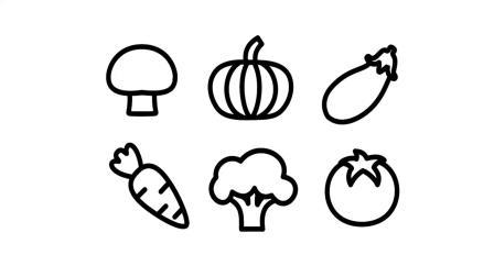 如何为婴儿画蔬菜为孩子画图画和上色