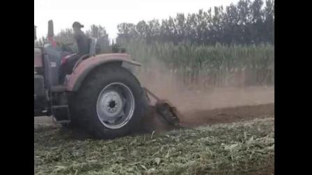 一种新型玉米秸秆还田机秸秆灭茬机田间工作视频