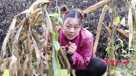 地里红薯老是被偷,二货伪装成稻草人,把村妹吓得不轻,结局有趣