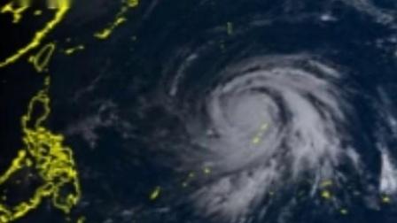 """2019年第19号台风""""海贝思""""卫星云图"""